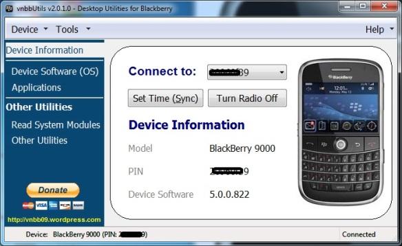 vnbbUtils v2 0 1 5 – Desktop Utilities for Blackberry (All-in-One